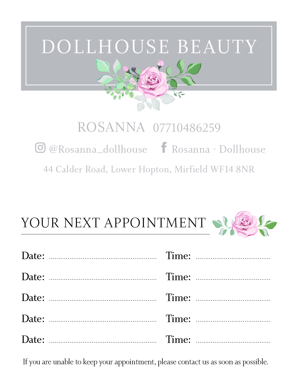 Dollhouse business Cards