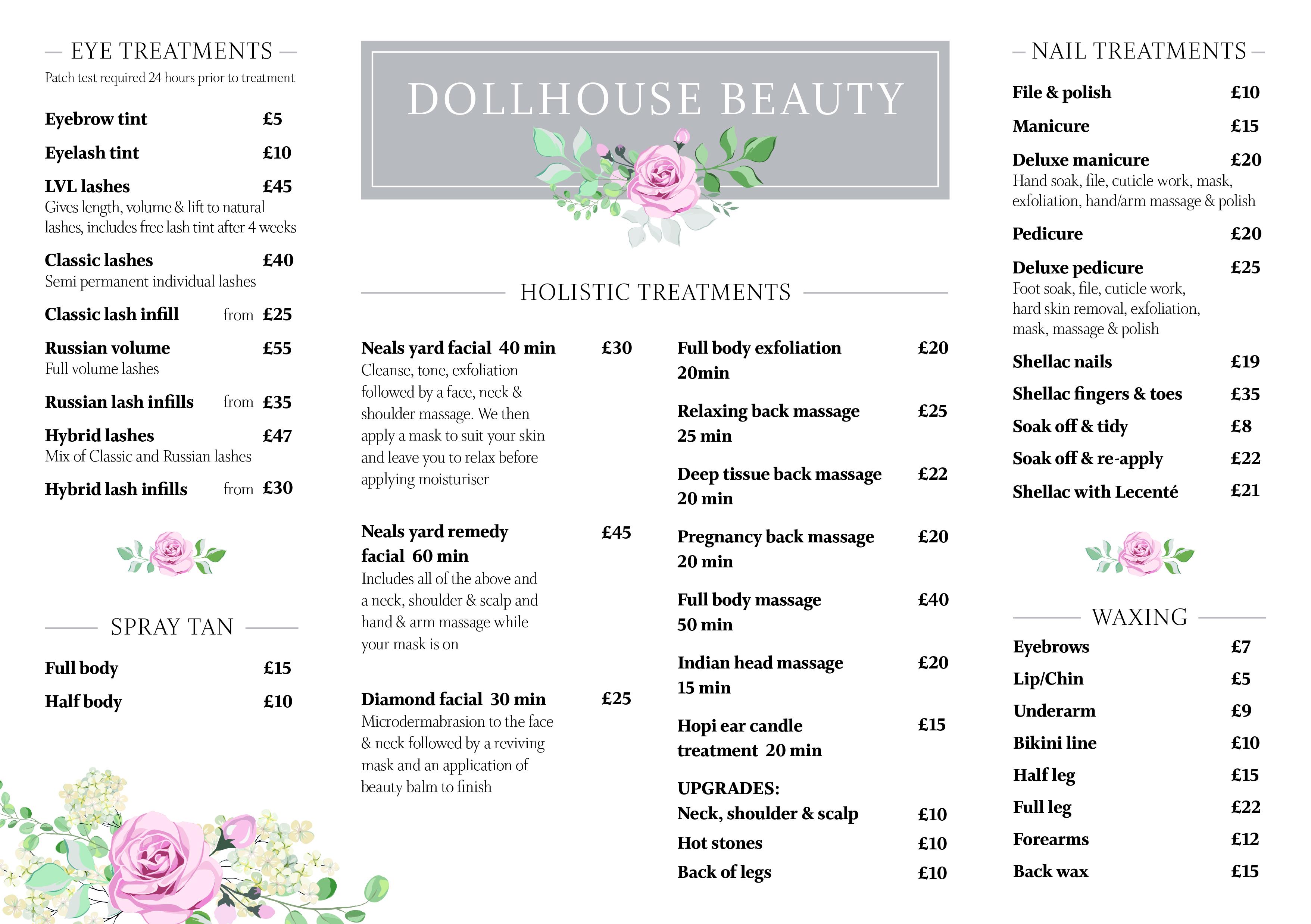 Dollhouse price list