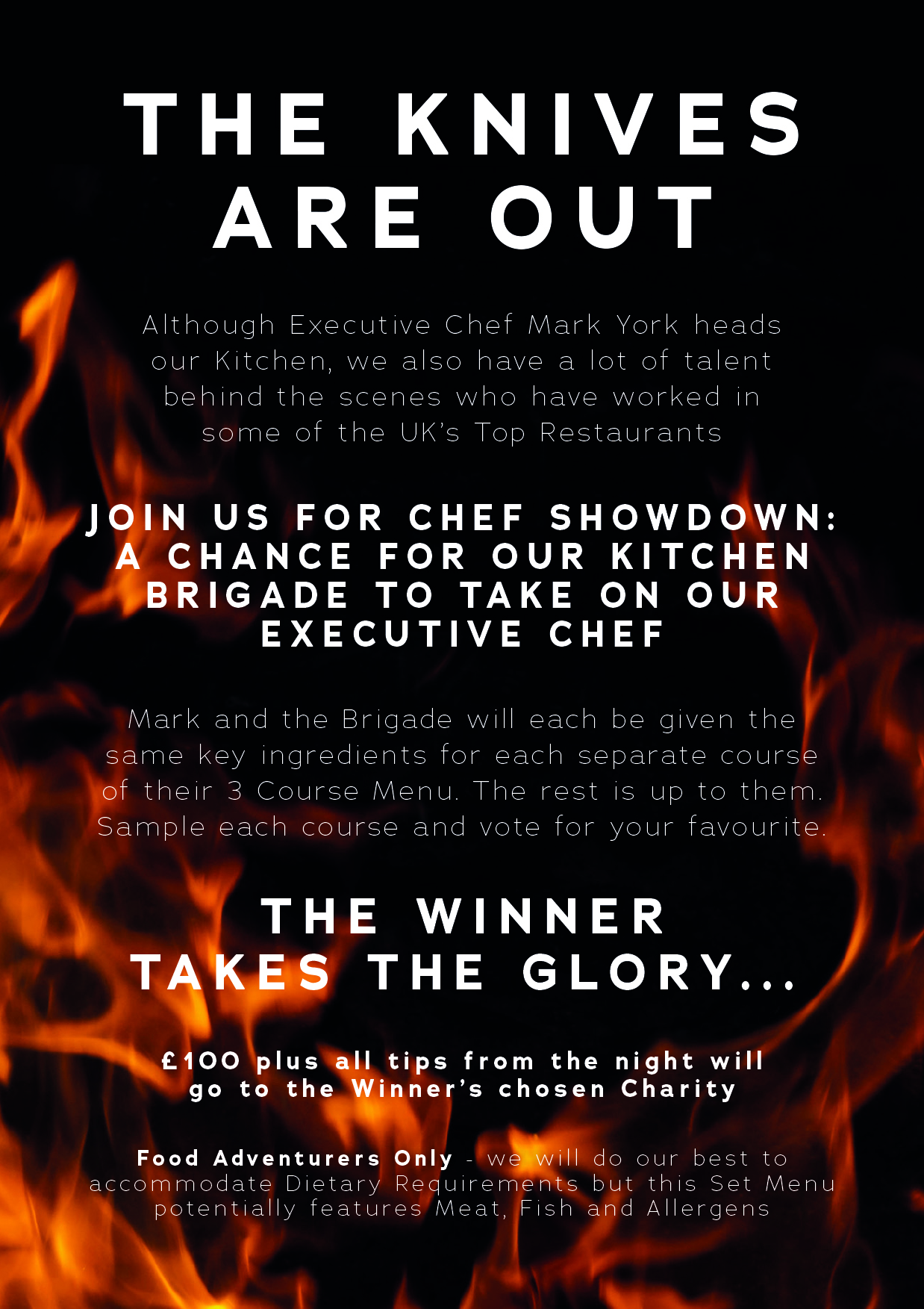 Chef Showdown flyer