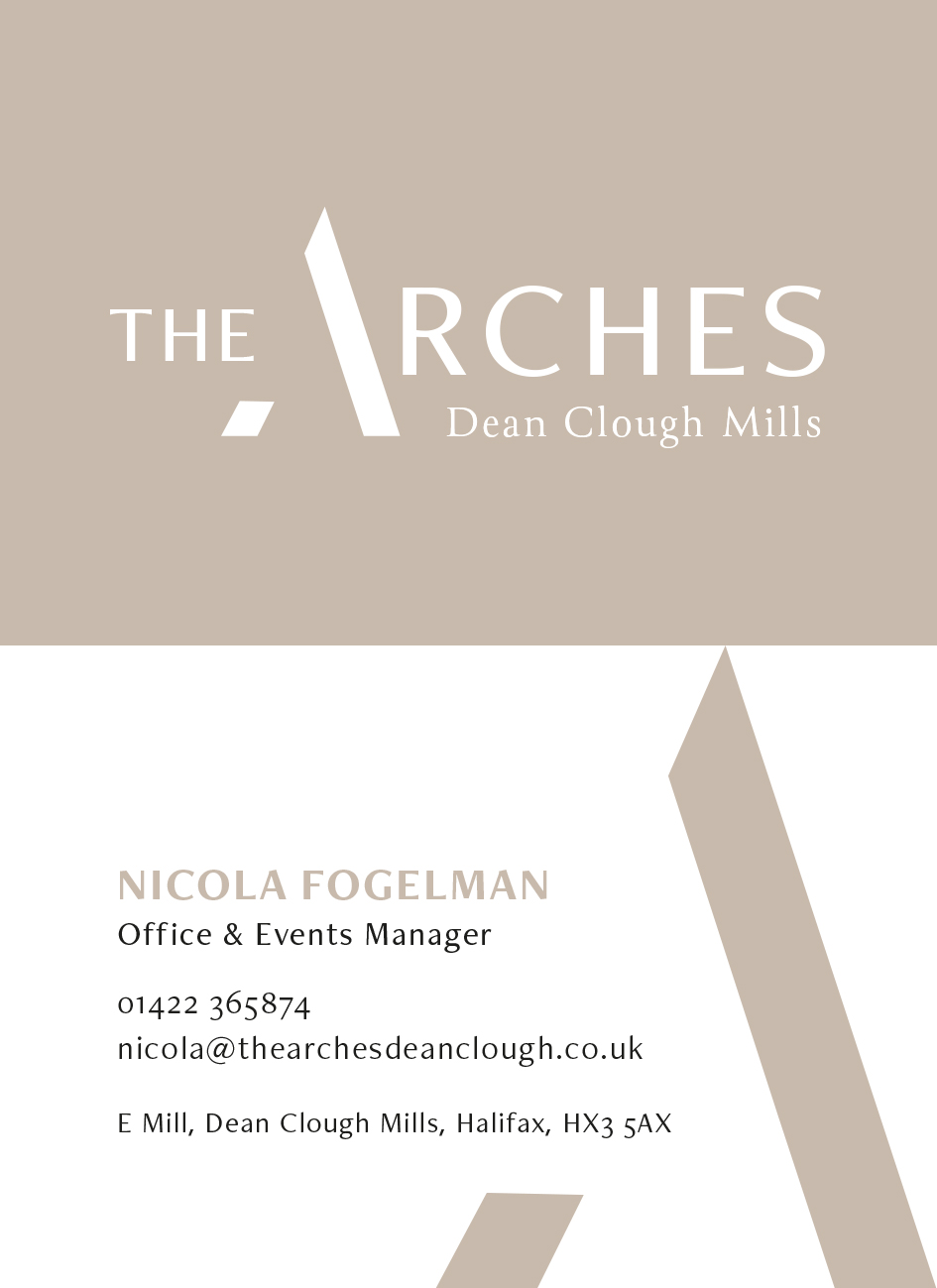 The Arches business cards