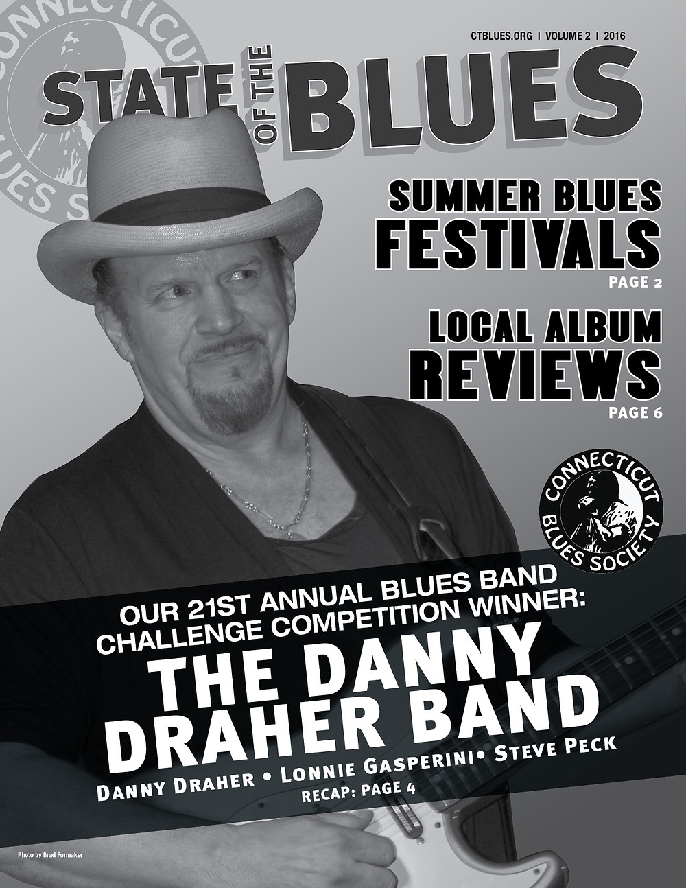 v2.2016 Front Cover: The 21st Annual CT Blues Society Blue Band Challenge Winner