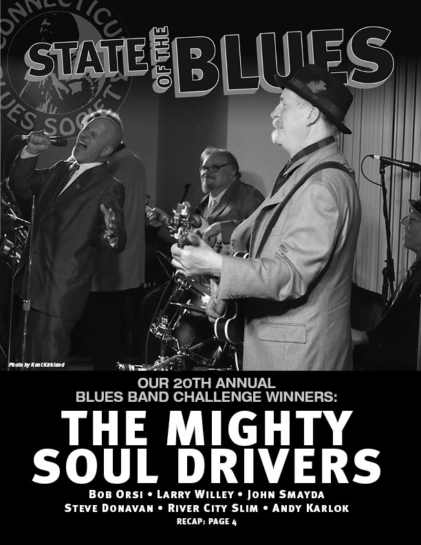 v2.2015 Front Cover: The 20th Annual CT Blues Society Blue Band Challenge Winner