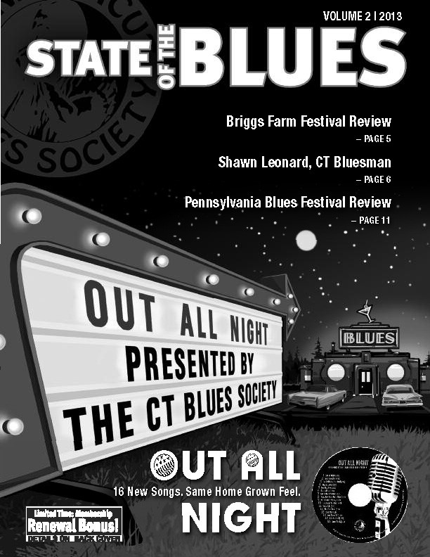 V2.2013 Front Cover: 2013 CT Blues Society CD Release