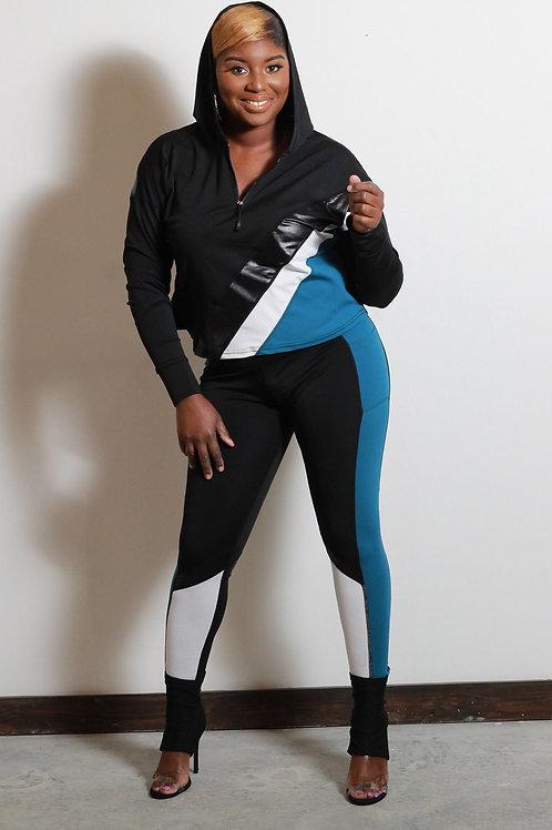 Sport Her Hoodie Set (Blue)