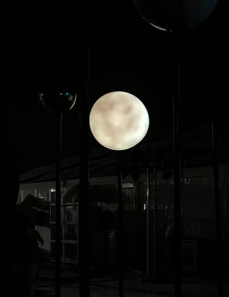 Night time installation