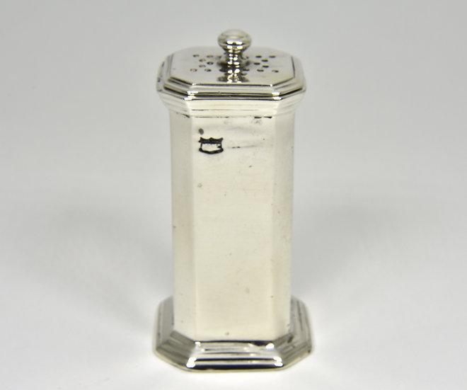 Antique English Art Deco Solid Silver Pepperette (Mappin & Webb Ltd 1925)