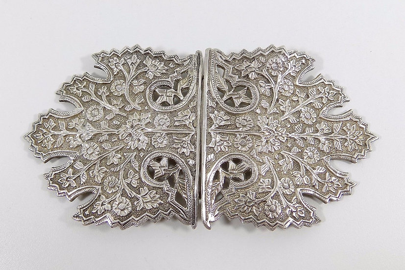 Vintage English Britannia Standard Solid Silver Nurses Buckle, 1983