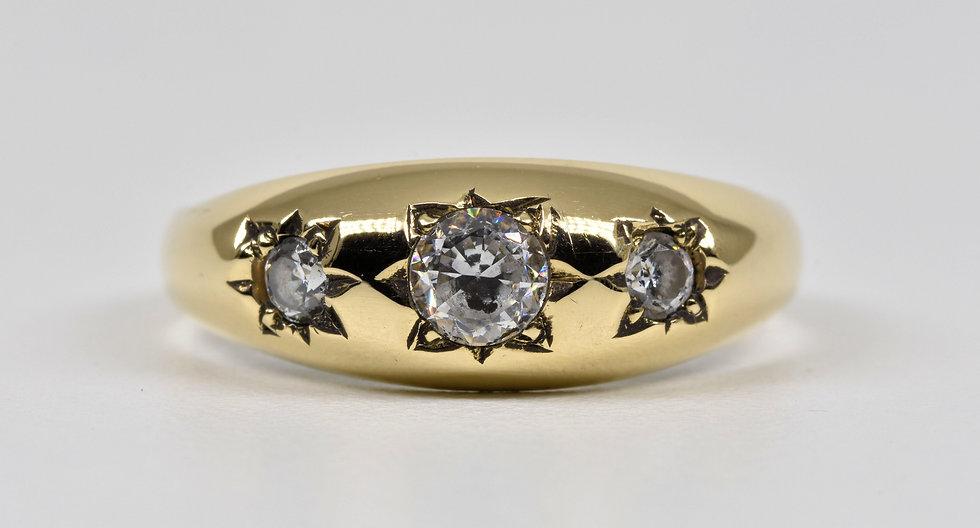Vintage 9ct Gold Goshenite Gypsy Ring, 1980's