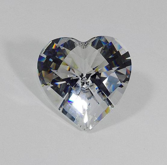 Swarovski Silver Crystal Large Sparkling Love Heart,Certificate & Original Case