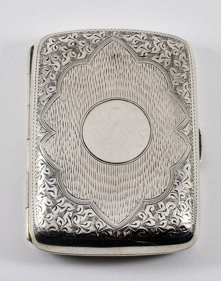 Antique Edwardian Solid Silver Cigarette Case, Horace Woodward, 1905