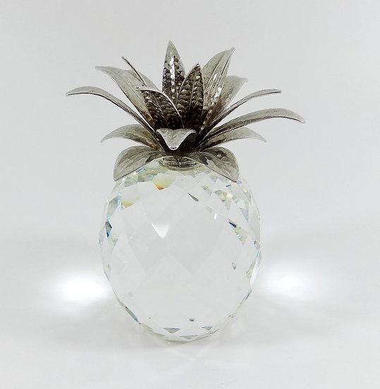 Swarovski silver crystal topaz harmony heart, certificate & original presentatio