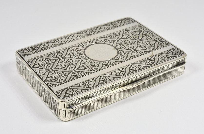 Antique Austrian Solid Silver Card Case, c1910