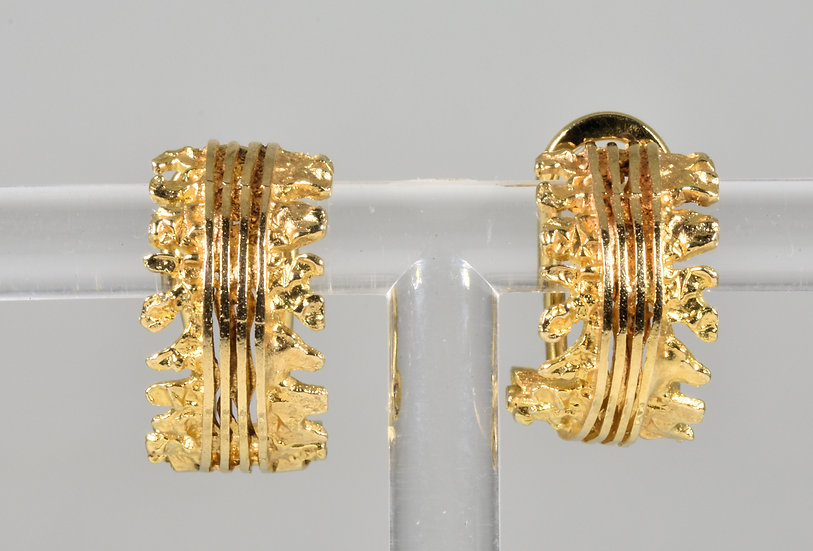 Vintage 9ct Gold Clip Back Earrings, 1950's