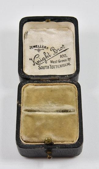 Antique Victorian Ring Box, Knight Bros, South Tottenham.