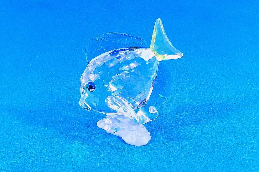 Swarovski Silver Crystal Blue FinTang Fish, Certificate & Original Case