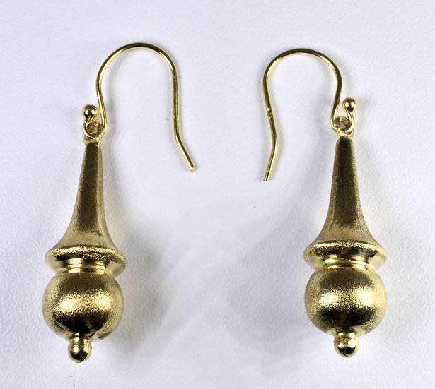 Antique Victorian 9ct Gold Drop Earrings, C1880