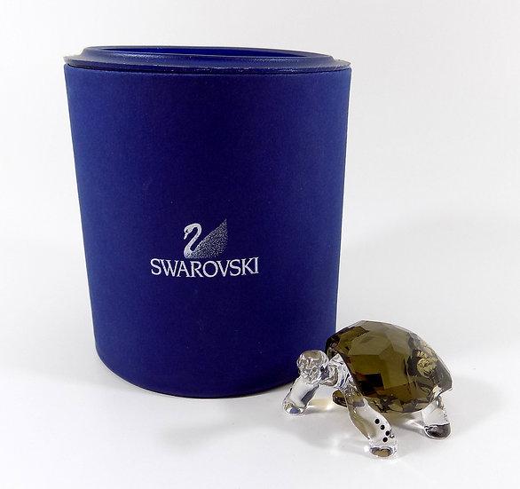Swarovski Silver Crystal Galapagos Tortoise, Original Case
