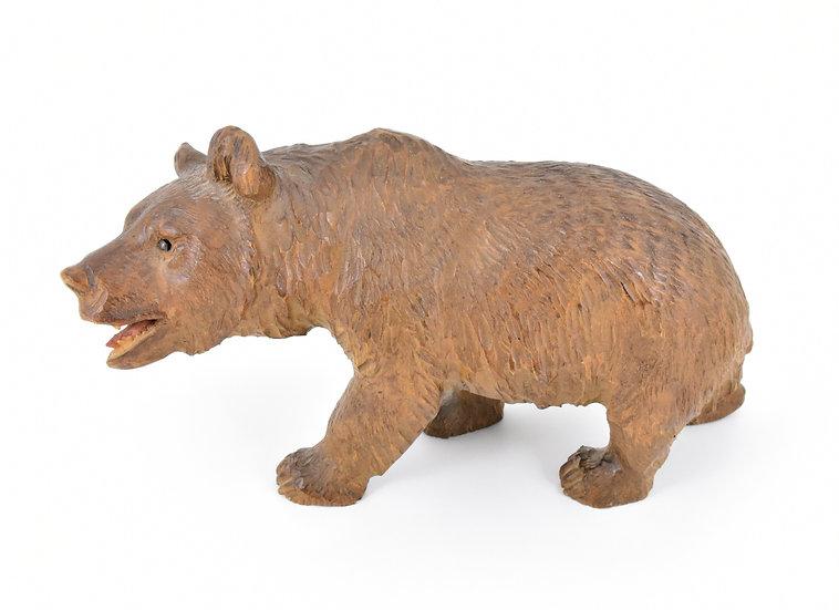 Antique Hand Carved Black Forest Bear, c1880