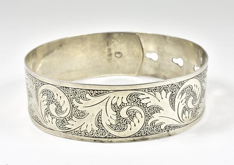 Antique Charles Horner Solid Silver Expandable Bracelet, 1945, 23.1g
