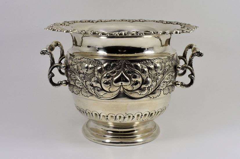 Antique Victorian Silver Plated Champagne Bucket (Martin Hall & Co, c1880)
