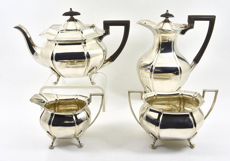 Antique Victorian Silver Plated 4 Piece Tea Set (Albert Henry Thompson c1890)