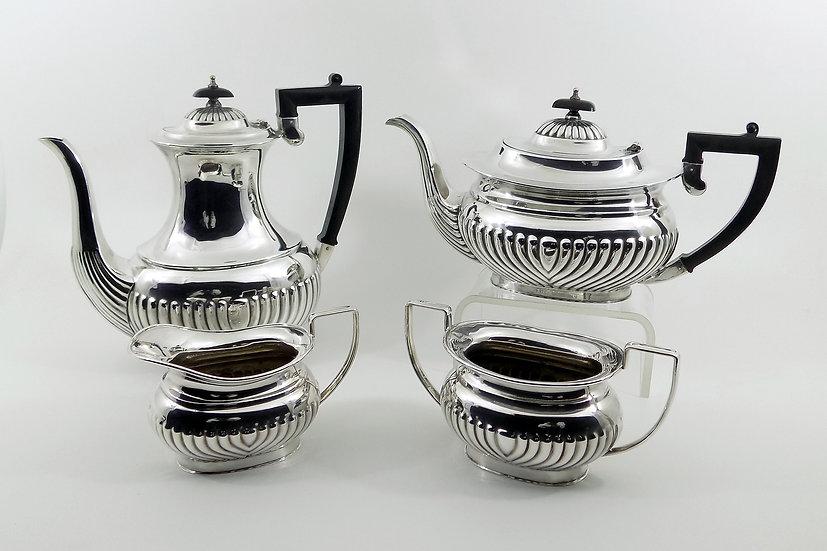 Antique Edwardian Silver Plated 4 Piece Tea Set (Philip Ashberry & Sons c1900)