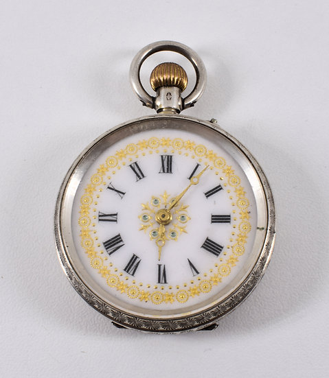 Antique Solid Silver Ladies Pocket Watch, Imported, Stockwell & Co, 1919
