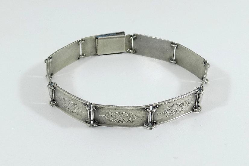 Vintage Danish Solid Silver Bracelet 830s, (Hans Georg Liebst, 1966-1973)