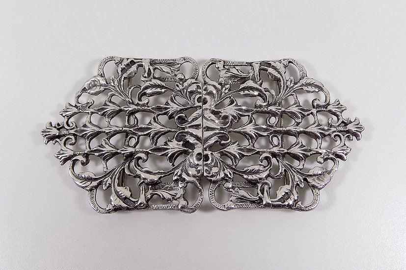 Vintage English Solid Sterling Silver Nurses Buckle, 1971, 74g