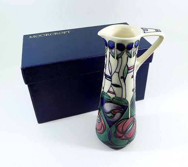 Vintage Moorcroft Tall Jug, Tribute Pattern, Charles Rennie Mackintosh, 1994
