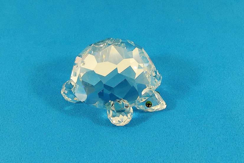 Swarovski Silver Crystal Large Turtle, Original Case