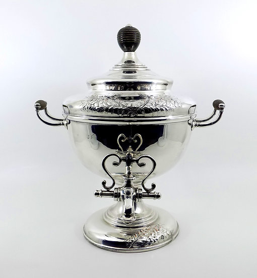"Antique ""Old Sheffield Plate"" Silver Plate Hot Water Samovar, c1830"