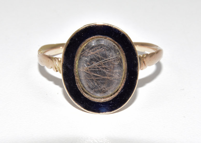 Antique George III 18ct Gold & Enamel Mourning Ring