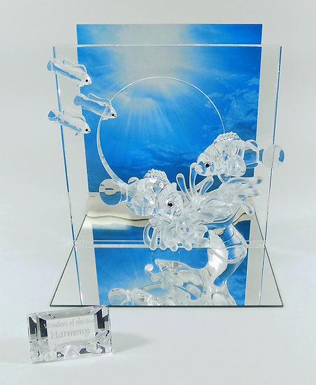 Swarovski Silver Crystal Wonders Of The Sea, Harmony & Title Plaque