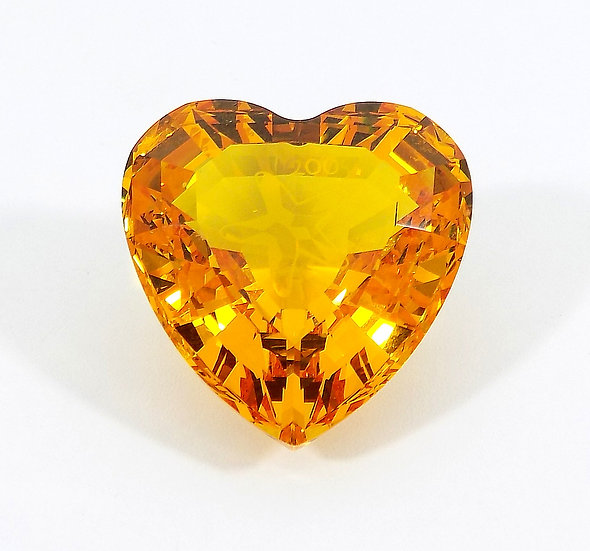 Swarovski Silver Crystal Topaz Harmony Heart, Certificate & Original Case
