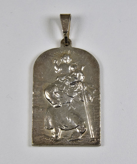 Vintage Silver St. Christopher Pendant ( London,1975)