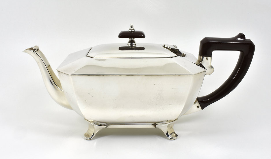 Antique Art Deco Silver Plated Teapot (James Dixon & Sons c1930)