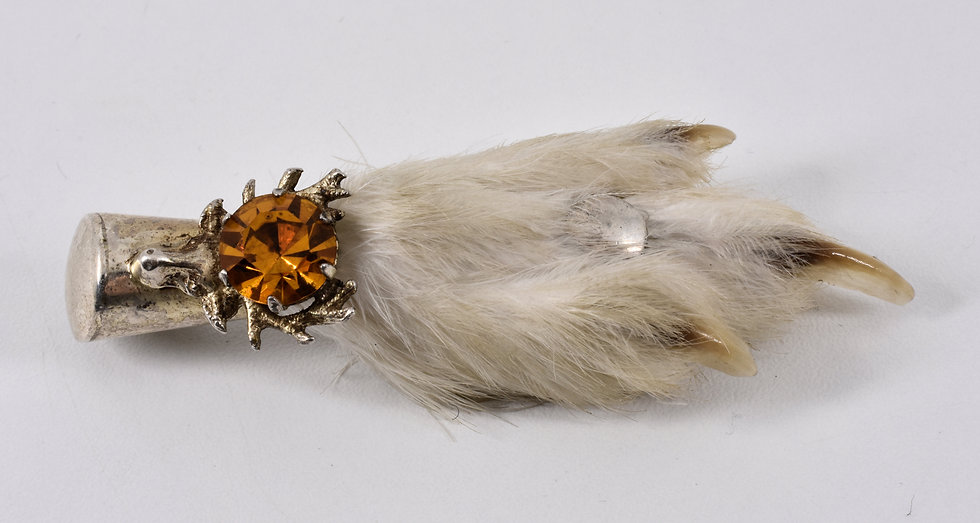 Vintage Silver Scottish Lucky Grouse Foot Kilt Pin/Brooch (Ward brothers,1959)