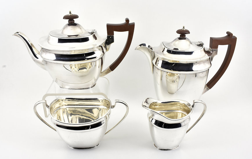 Antique Edwardian Silver Plated 4 Piece Tea Set (Martin Hall & Co c1905)