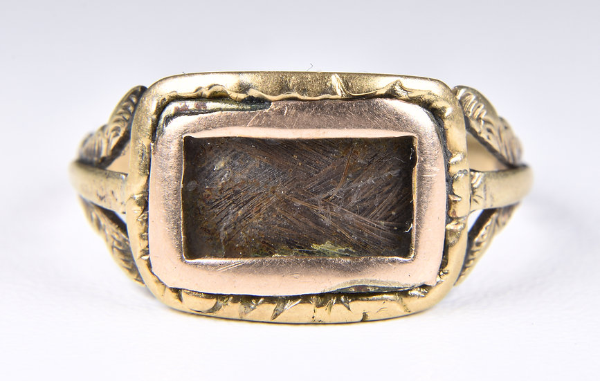 Antique 18ct Gold George IV Mourning Ring, (1826)