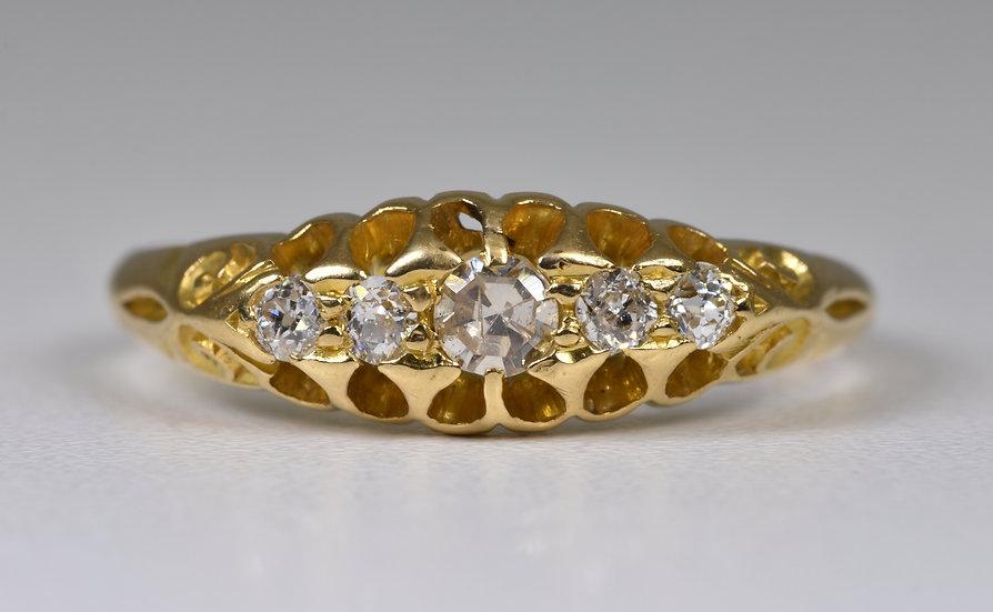 Antique Edwardian 18ct Gold Old Cut Diamond Ring, (Birmingham, 1903)