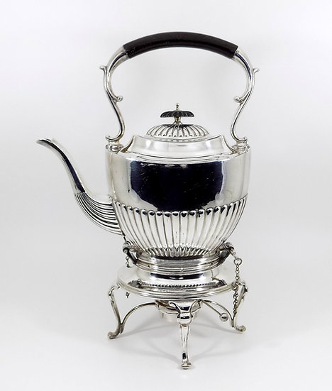 Antique Victorian Silver Plated Spirit Kettle & Stand, (Liberty & Co, c1890)
