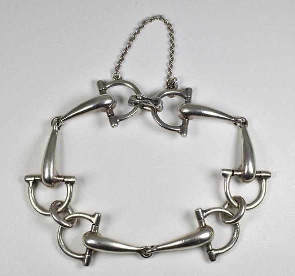 Vintage Solid Silver Stirrup Bracelet, ( London,1974)