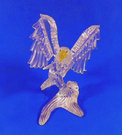 Swarovski Silver Crystal Bald Eagle, Original Case