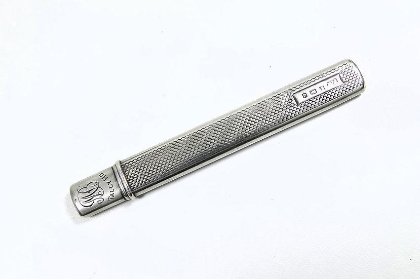 Antique Edwardian Solid Silver Carpenters Pencil (Francis Webb, c1903)