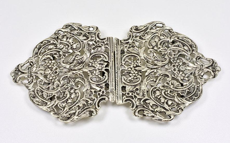 Antique English Victorian Solid Silver Nurses Buckle (Thomas Hayes, 1894)