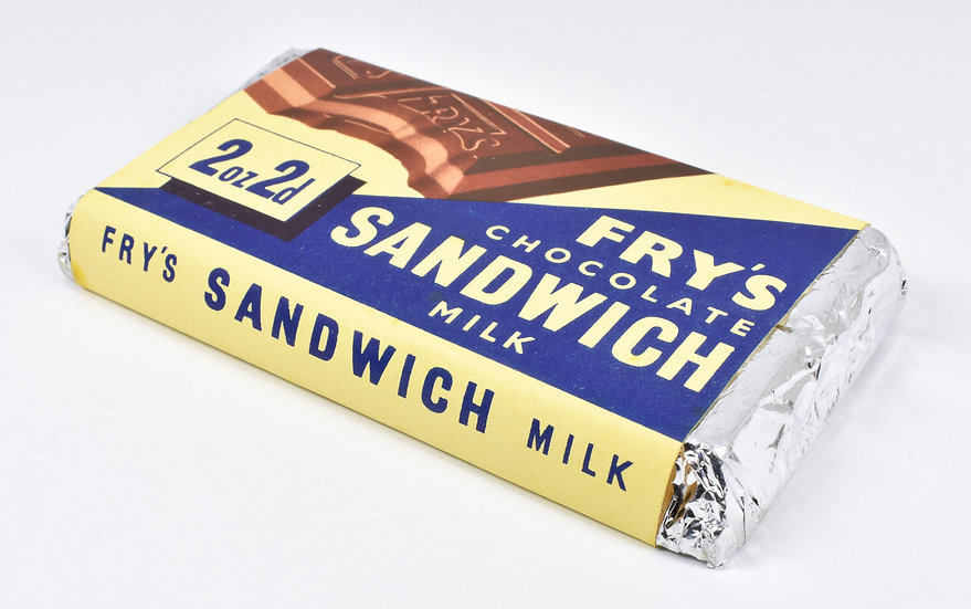 Vintage Genuine J.S Fry's Ltd Chocolate Sandwich Bar, c1940