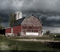 barn w.bankrupt sign