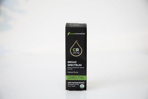 1200mg Broad Spectrum Clean Remedies CBD-natural