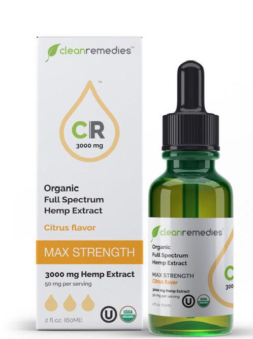 3,000mg Citrus CBD oil-Clean Remedies